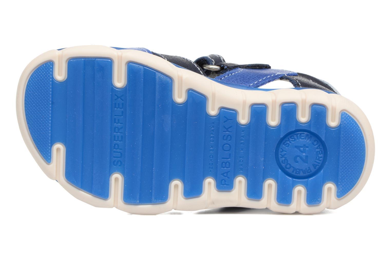 Sandales et nu-pieds Pablosky Alberto Bleu vue haut