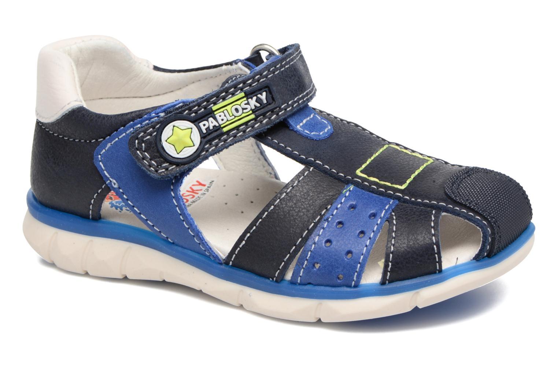 Sandales et nu-pieds Pablosky Alberto Bleu vue détail/paire