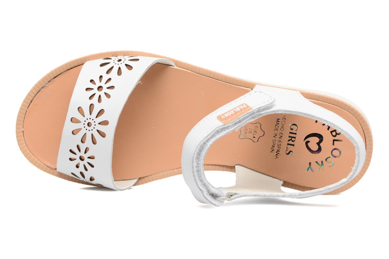 Sandali e scarpe aperte Pablosky Dominica Bianco immagine sinistra
