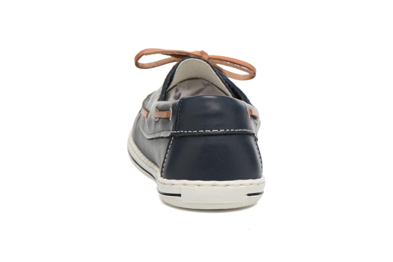 Zapatos con cordones Pablosky Conrado Azul vista lateral derecha
