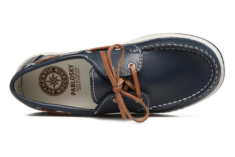 Zapatos con cordones Pablosky Conrado Azul vista lateral izquierda