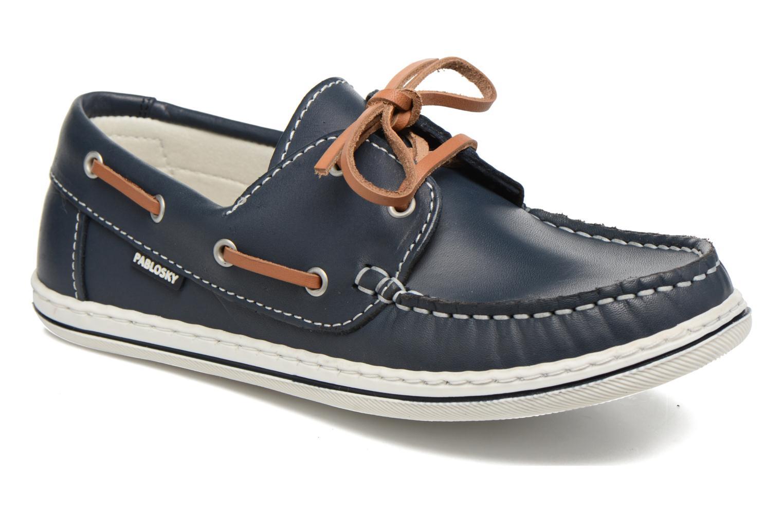 Chaussures à lacets Pablosky Conrado Bleu vue détail/paire