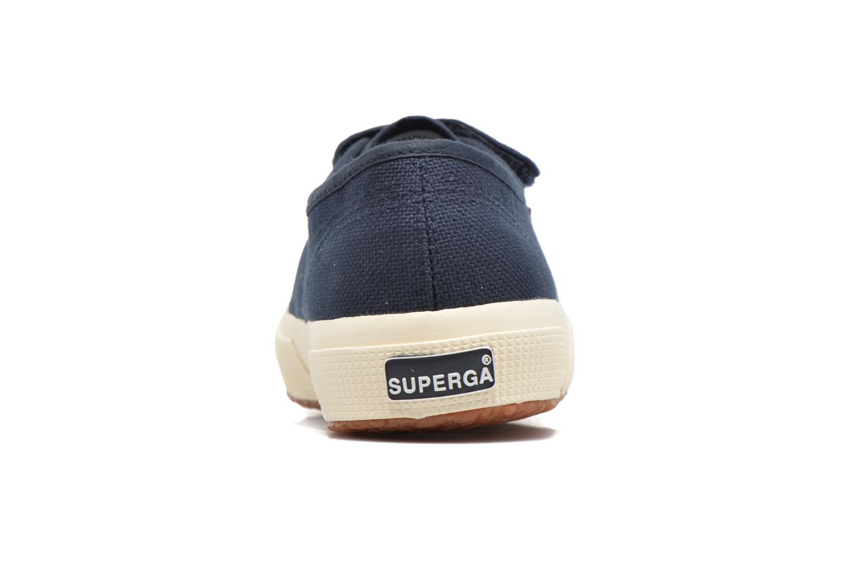 Baskets Superga 2751 Cot 3 Velu Bleu vue droite