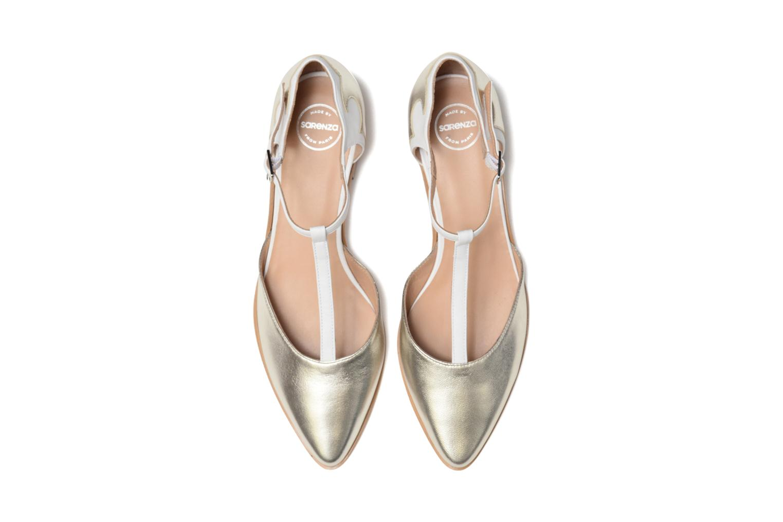 Ballerines Made by SARENZA Vegas Lipstick #4 Argent vue portées chaussures