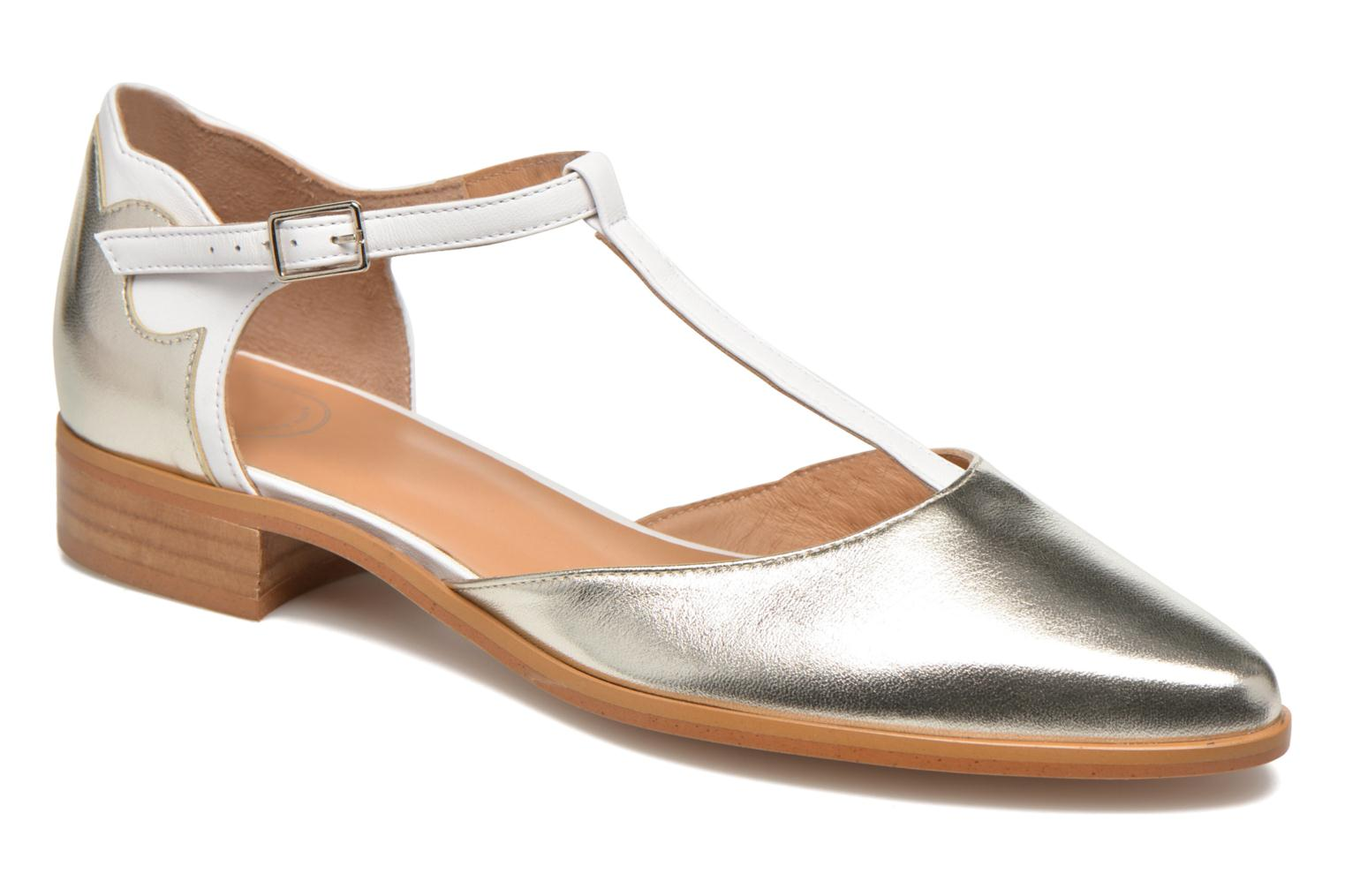 Ballet pumps Made by SARENZA Vegas Lipstick #4 Silver view from the right
