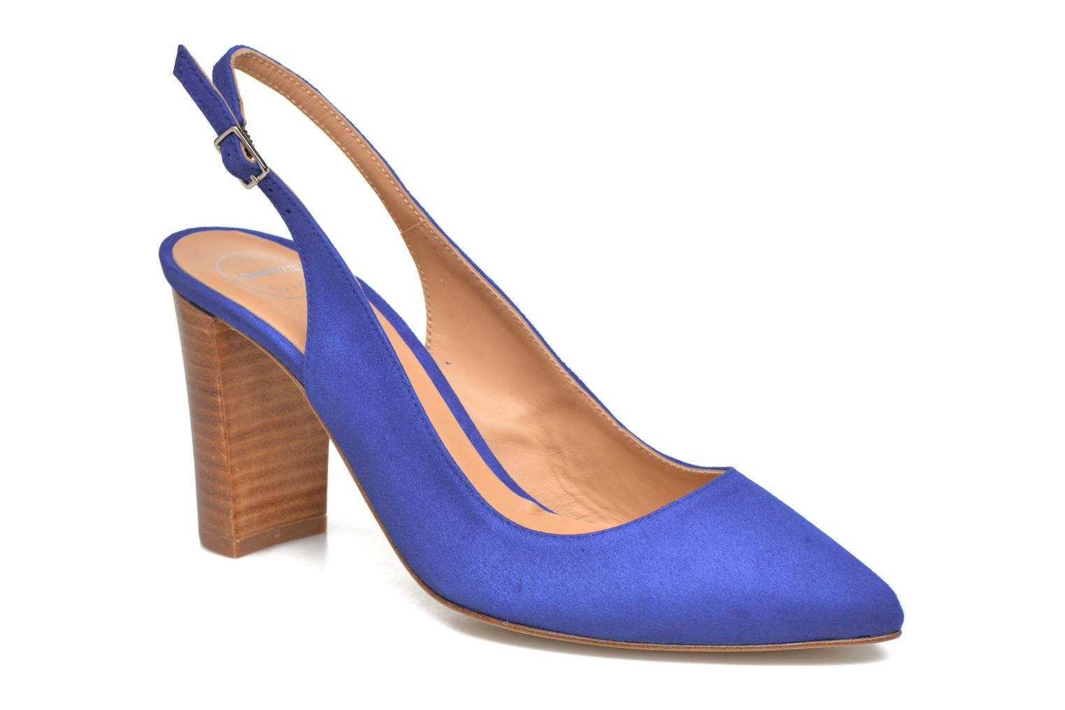 High heels Made by SARENZA 90's Girls Gang Escarpins #4 Blue view from the right