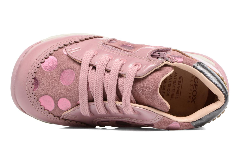 Chaussures à lacets Geox B Each G. C B720AC Rose vue gauche