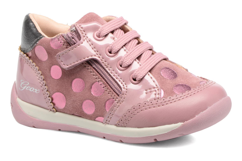 Chaussures à lacets Geox B Each G. C B720AC Rose vue détail/paire