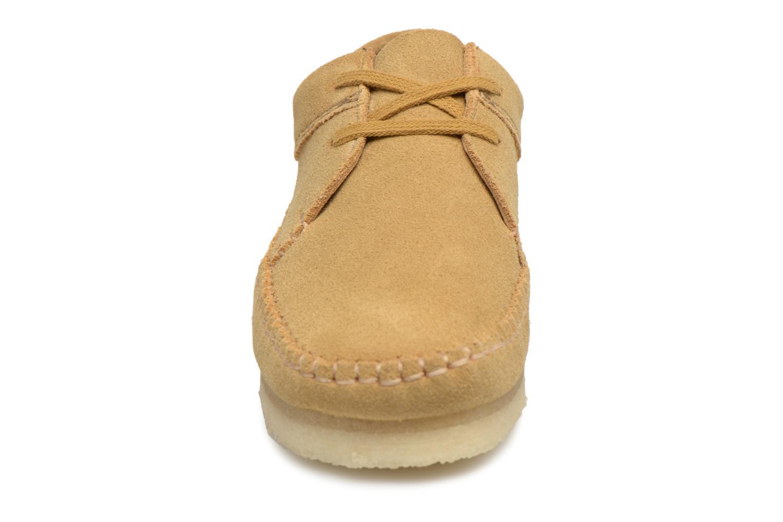 Lace-up shoes Clarks Originals Weaver W Brown model view