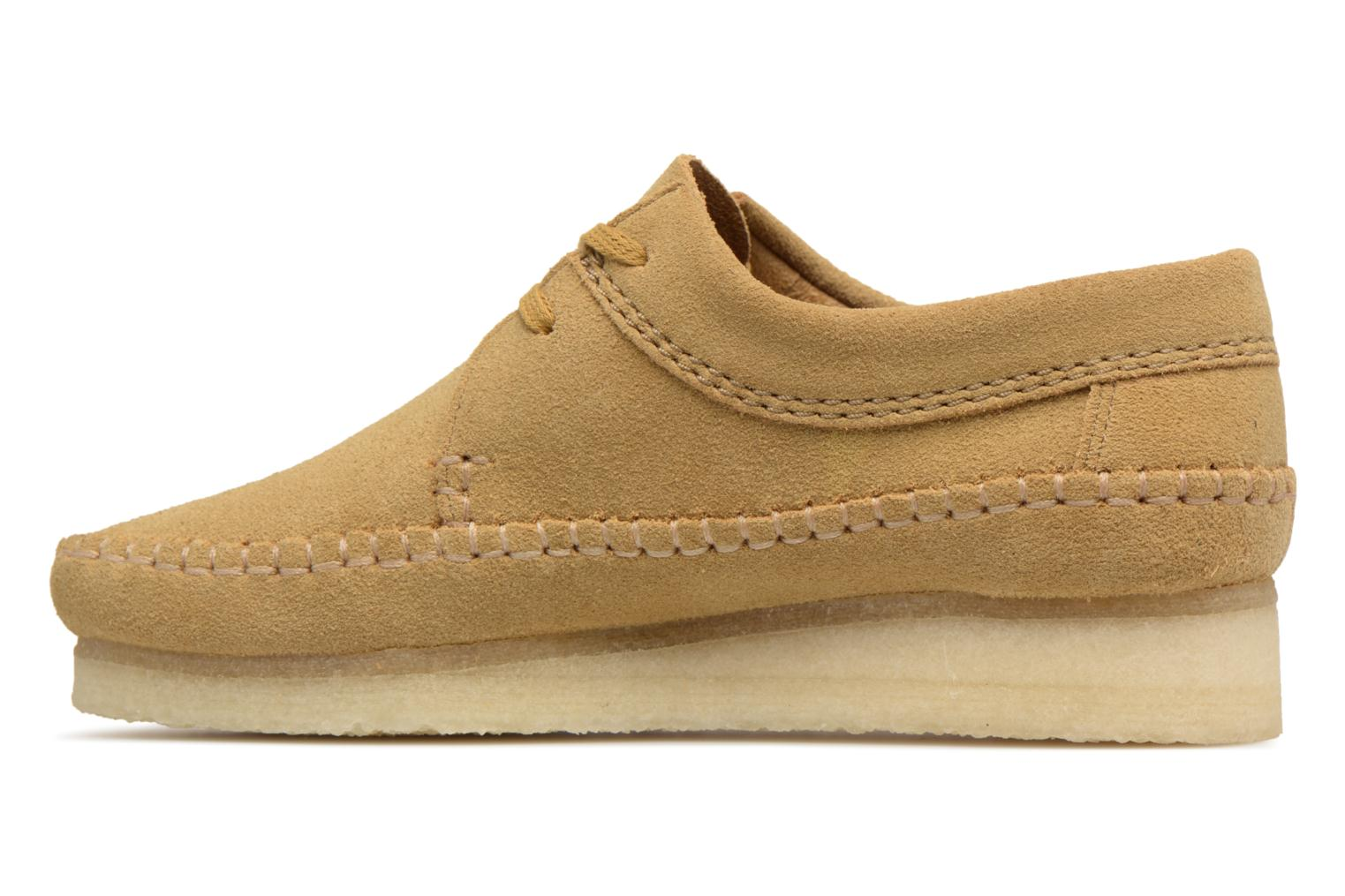 Chaussures à lacets Clarks Originals Weaver W Marron vue face