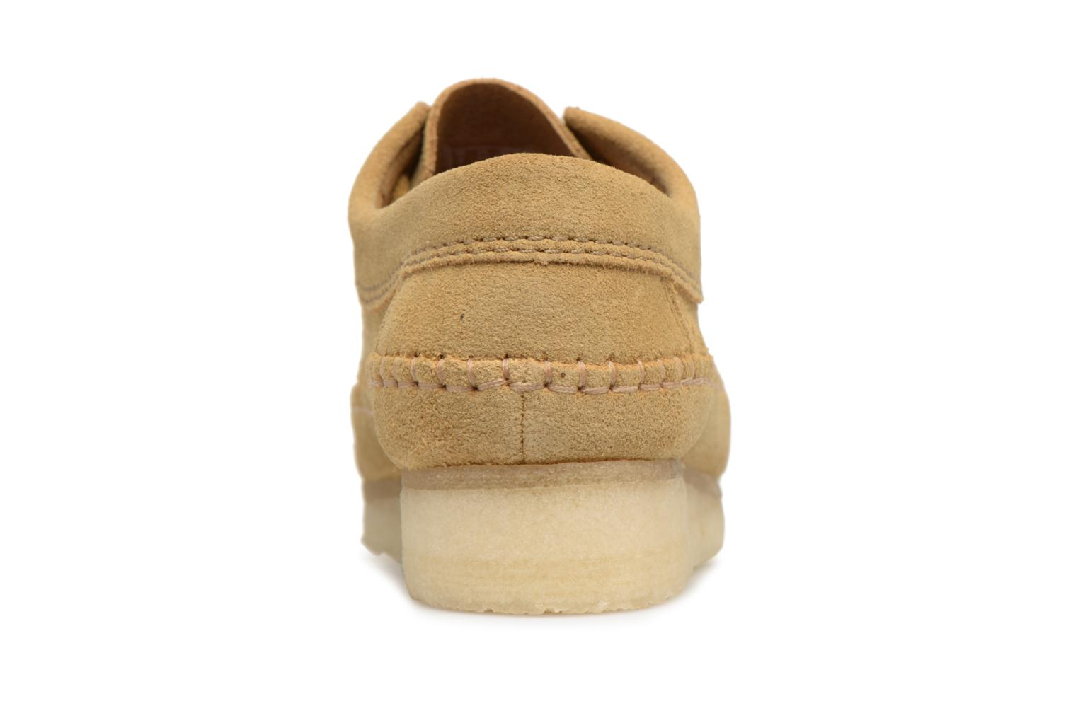 Lace-up shoes Clarks Originals Weaver W Brown view from the right