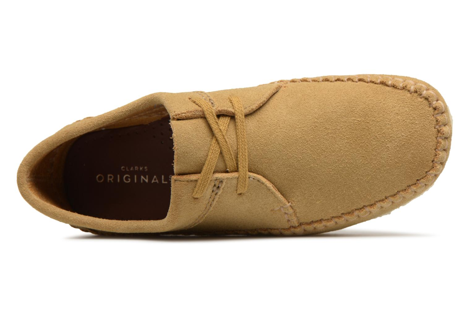 Lace-up shoes Clarks Originals Weaver W Brown view from the left