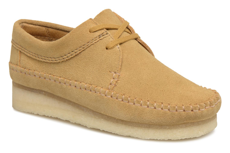 Zapatos con cordones Clarks Originals Weaver W Marrón vista de detalle / par
