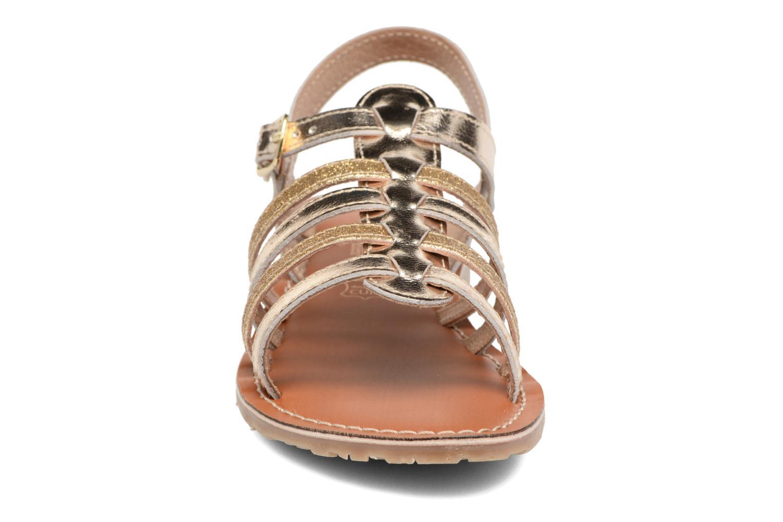 Sandales et nu-pieds L'Atelier Tropézien Mathilde Or et bronze vue portées chaussures