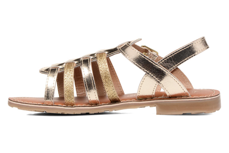 Sandales et nu-pieds L'Atelier Tropézien Mathilde Or et bronze vue face