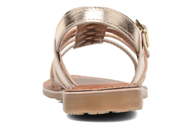 Sandales et nu-pieds L'Atelier Tropézien Mathilde Or et bronze vue droite
