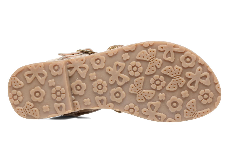 Sandales et nu-pieds L'Atelier Tropézien Mathilde Or et bronze vue haut