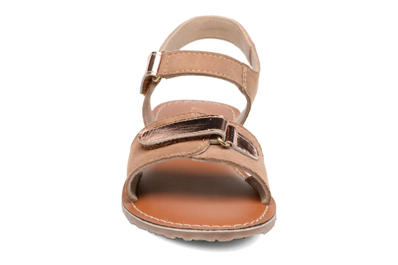 Sandali e scarpe aperte L'Atelier Tropézien Clémence Marrone modello indossato