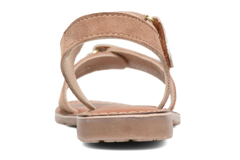 Sandali e scarpe aperte L'Atelier Tropézien Clémence Marrone immagine destra