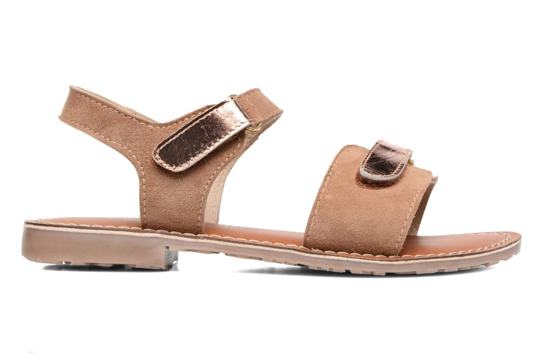 Sandales et nu-pieds L'Atelier Tropézien Clémence Marron vue derrière