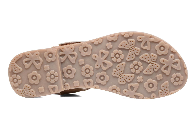 Sandales et nu-pieds L'Atelier Tropézien Clémence Marron vue haut