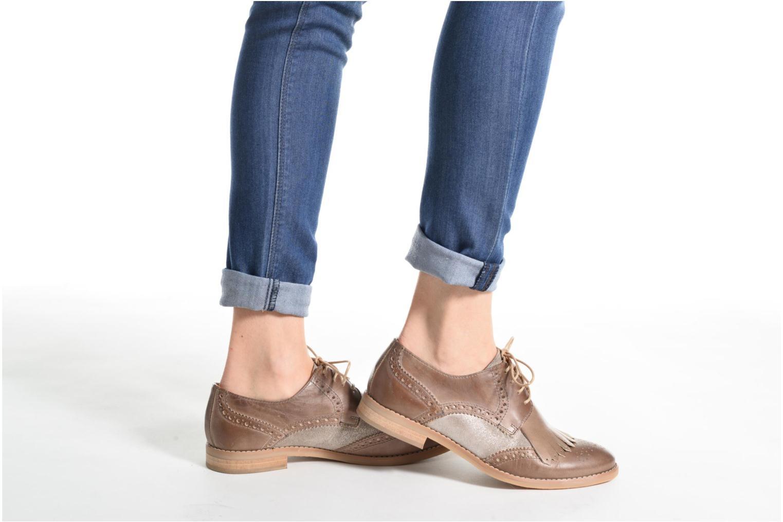Chaussures à lacets Georgia Rose Nibule Bleu vue bas / vue portée sac