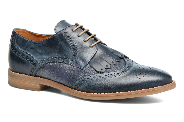 Chaussures à lacets Georgia Rose Nibule Bleu vue détail/paire