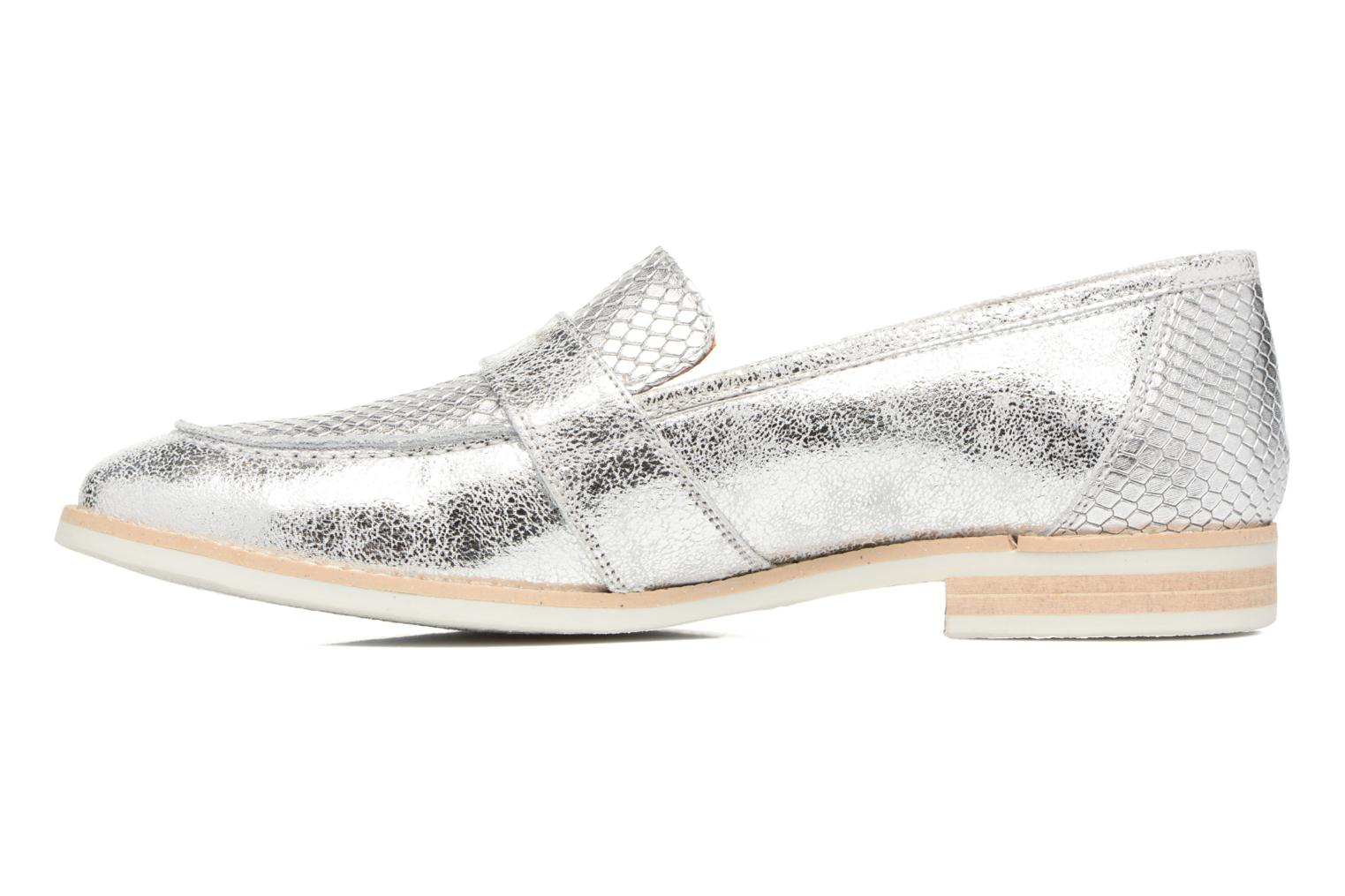 Loafers Georgia Rose Ninarck Silver front view