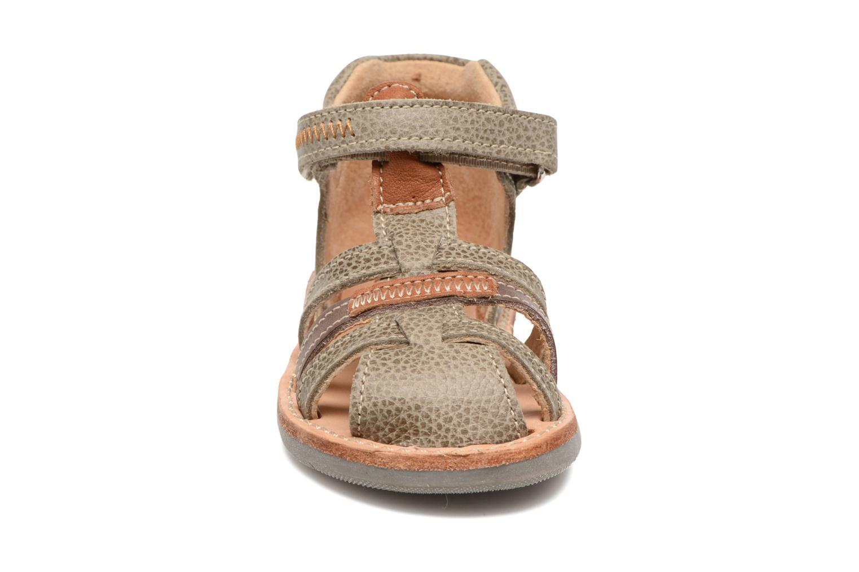 Sandales et nu-pieds Minibel Matchy Marron vue portées chaussures