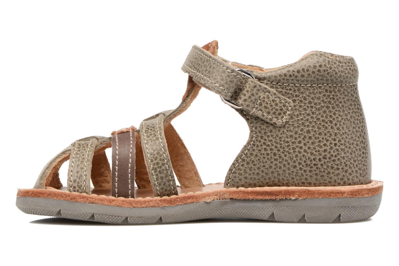 Sandales et nu-pieds Minibel Matchy Marron vue face