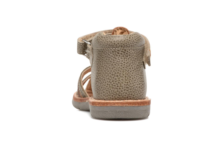 Sandales et nu-pieds Minibel Matchy Marron vue droite