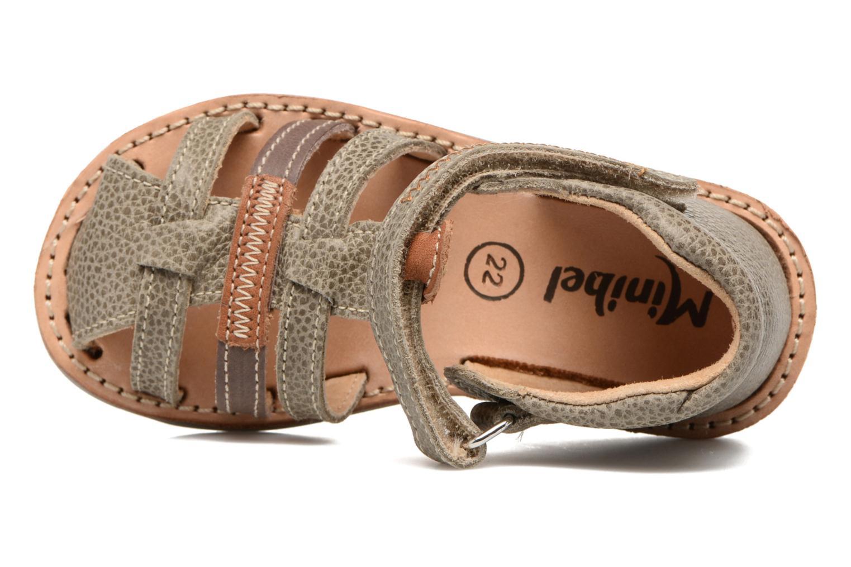 Sandales et nu-pieds Minibel Matchy Marron vue gauche