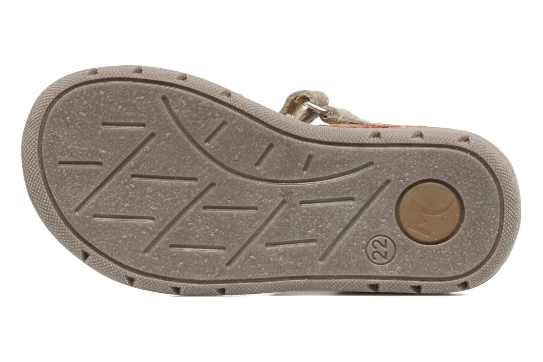 Sandales et nu-pieds Minibel Matchy Marron vue haut