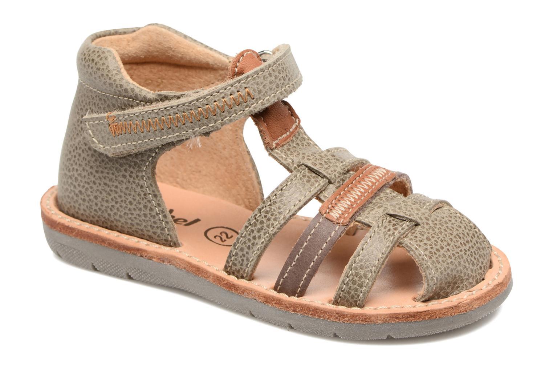Sandales et nu-pieds Minibel Matchy Marron vue détail/paire
