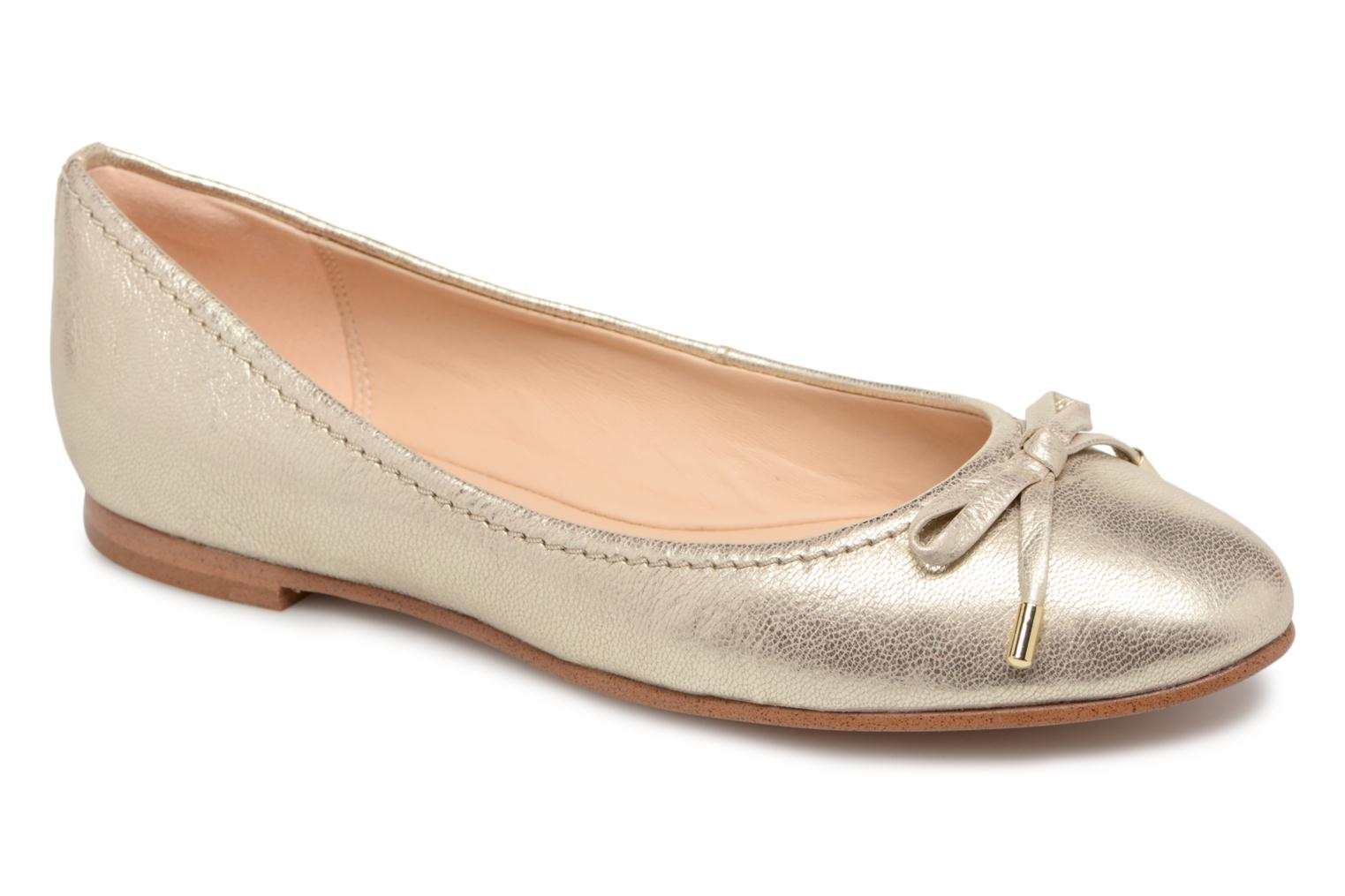 Ballet pumps Clarks Grace Lily Bronze and Gold detailed view/ Pair view