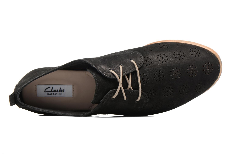 Chaussures à lacets Clarks Alania Posey Noir vue gauche