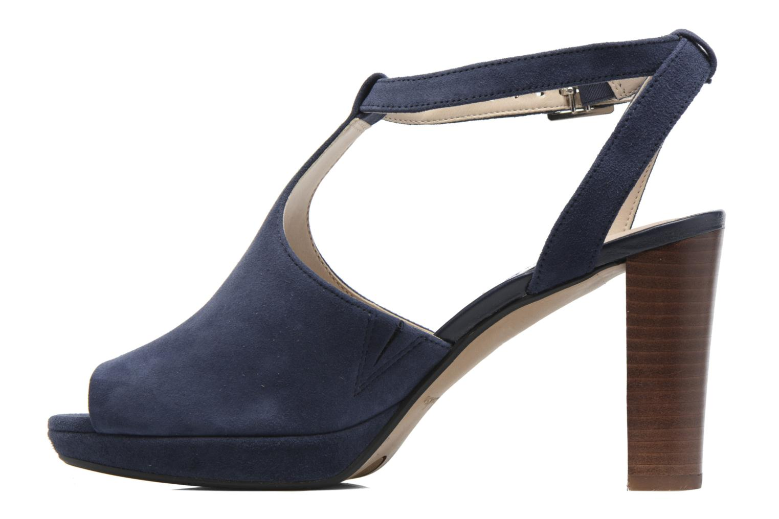 High heels Clarks Kendra Charm Blue front view