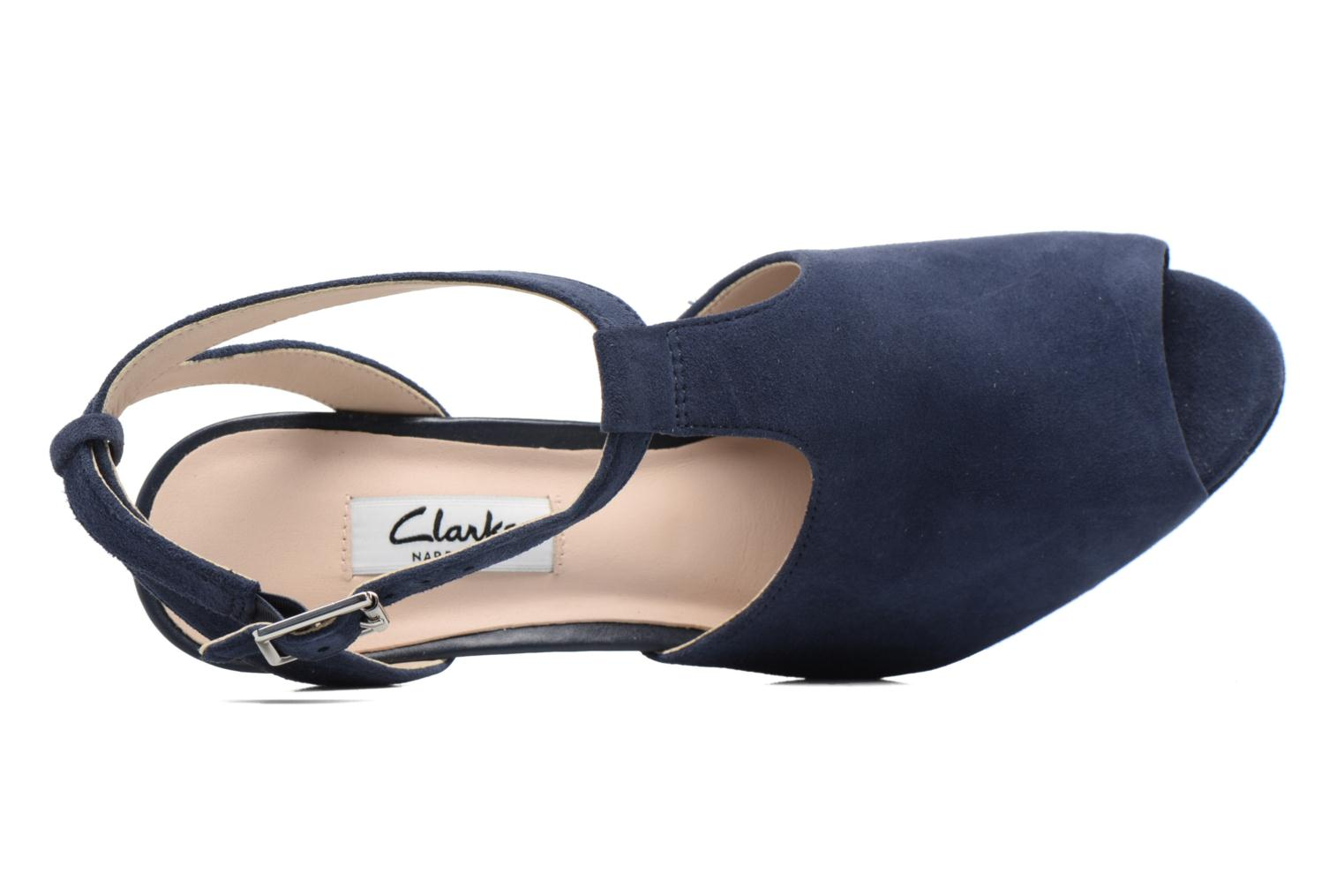 High heels Clarks Kendra Charm Blue view from the left