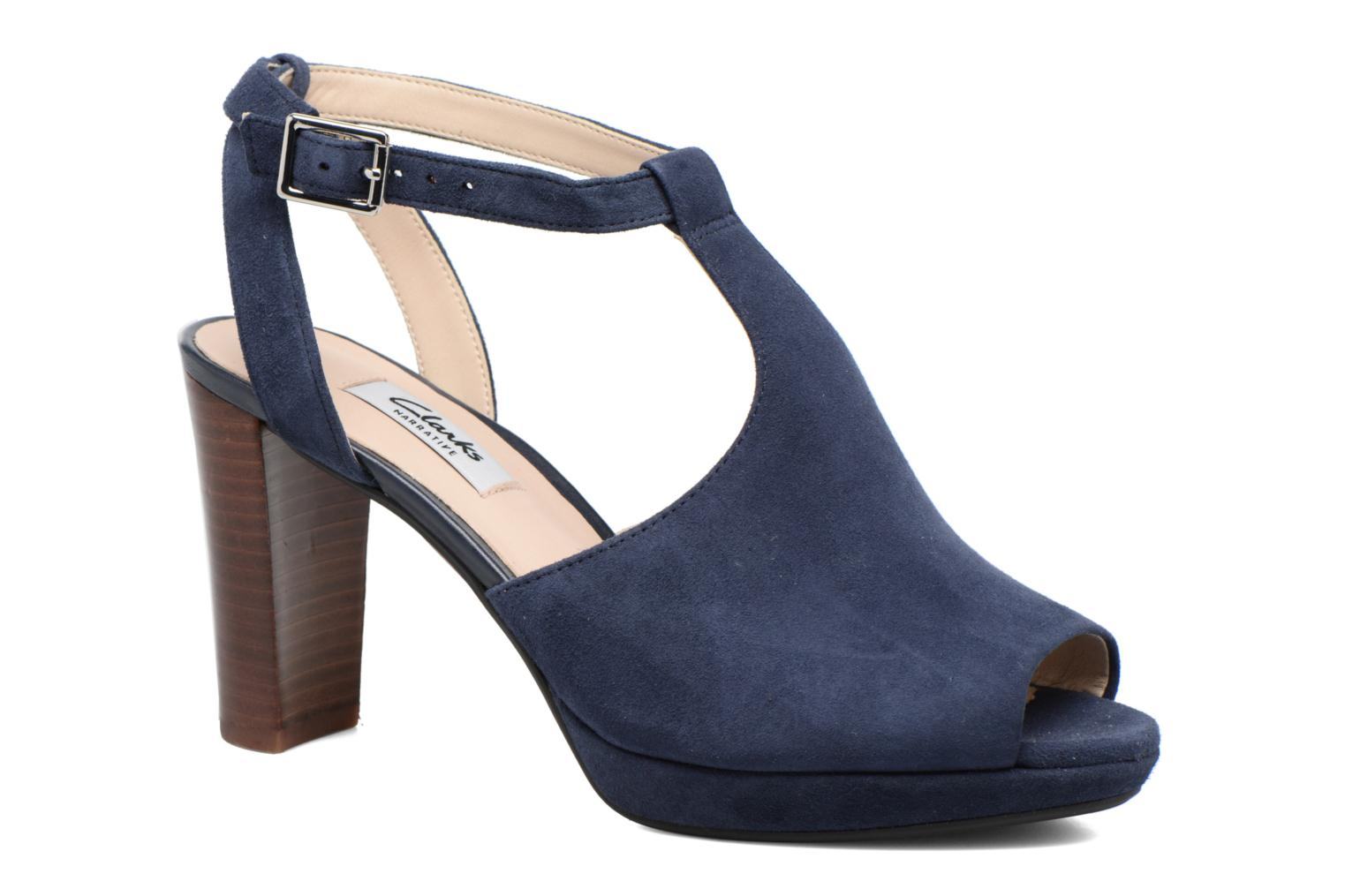 High heels Clarks Kendra Charm Blue detailed view/ Pair view