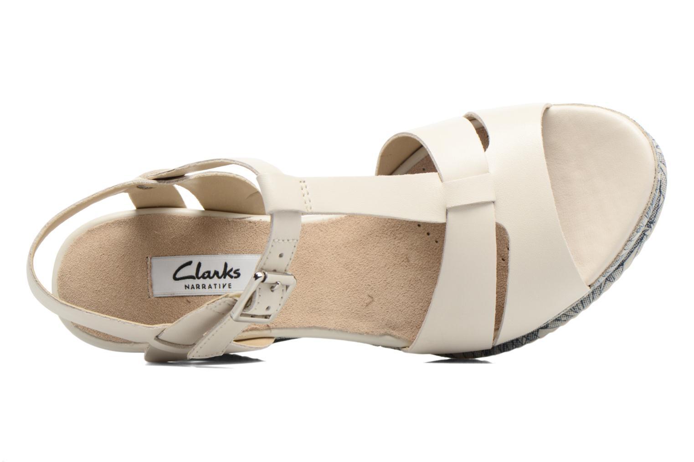 Sandales et nu-pieds Clarks Adesha River Blanc vue gauche