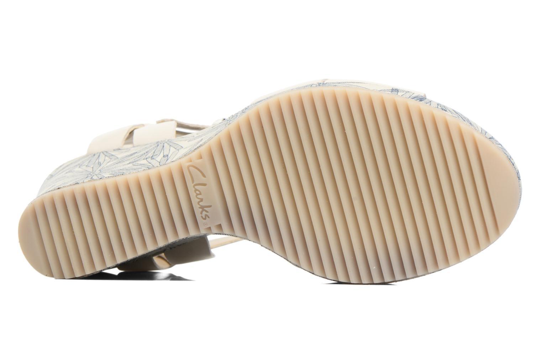 Sandales et nu-pieds Clarks Adesha River Blanc vue haut