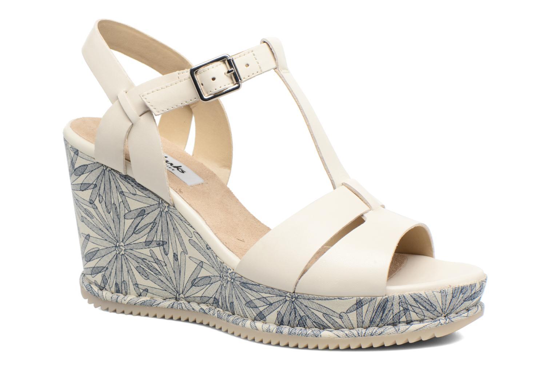 Sandales et nu-pieds Clarks Adesha River Blanc vue détail/paire