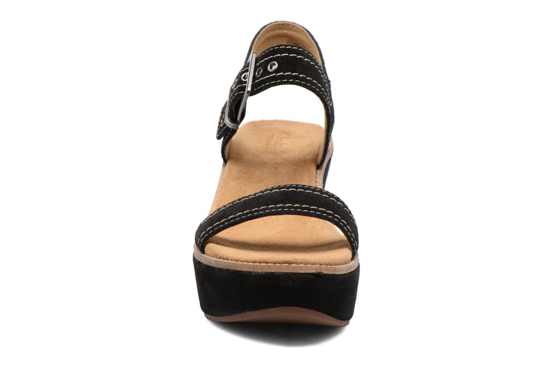 Sandales et nu-pieds Clarks Aisley Orchid Noir vue portées chaussures