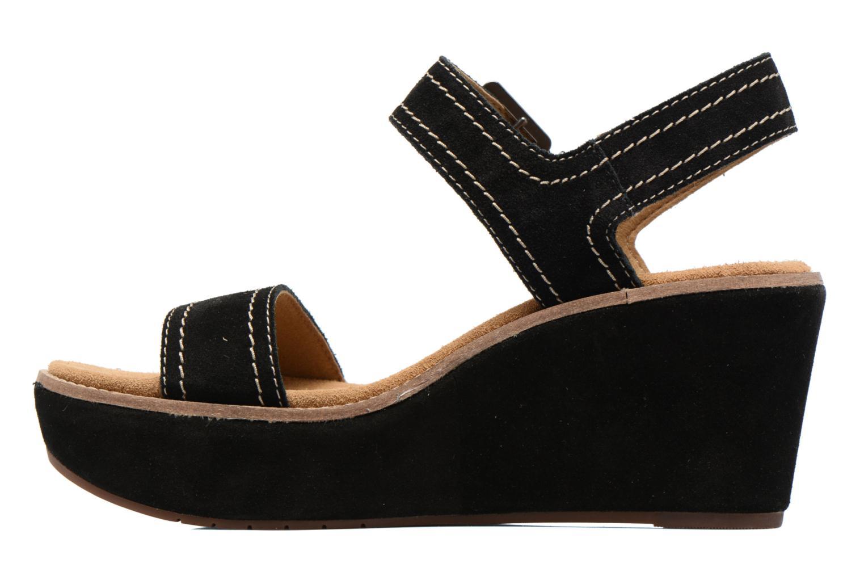 Sandales et nu-pieds Clarks Aisley Orchid Noir vue face