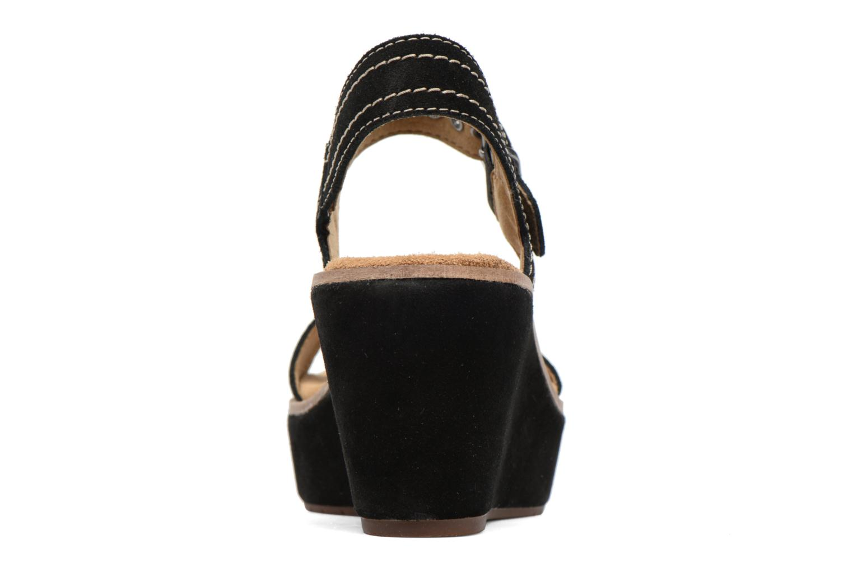 Sandales et nu-pieds Clarks Aisley Orchid Noir vue droite