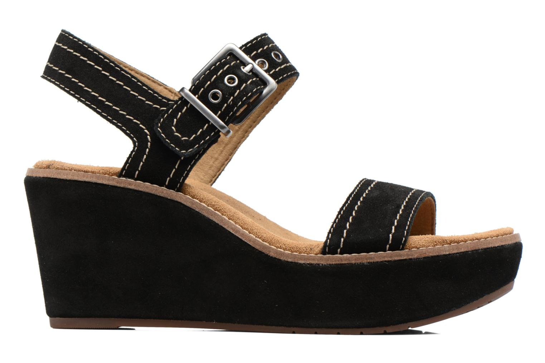 Sandales et nu-pieds Clarks Aisley Orchid Noir vue derrière
