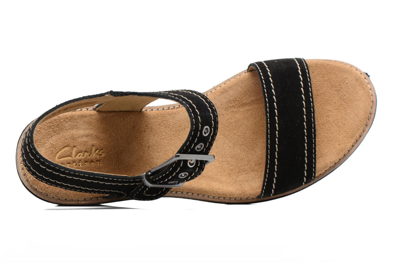 Sandales et nu-pieds Clarks Aisley Orchid Noir vue gauche