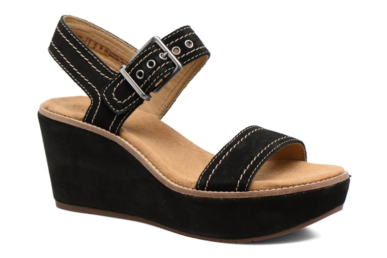 Sandales et nu-pieds Clarks Aisley Orchid Noir vue détail/paire