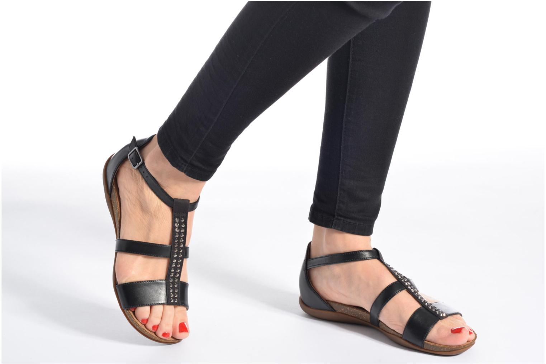 Sandales et nu-pieds Clarks Autumn Fresh Noir vue bas / vue portée sac
