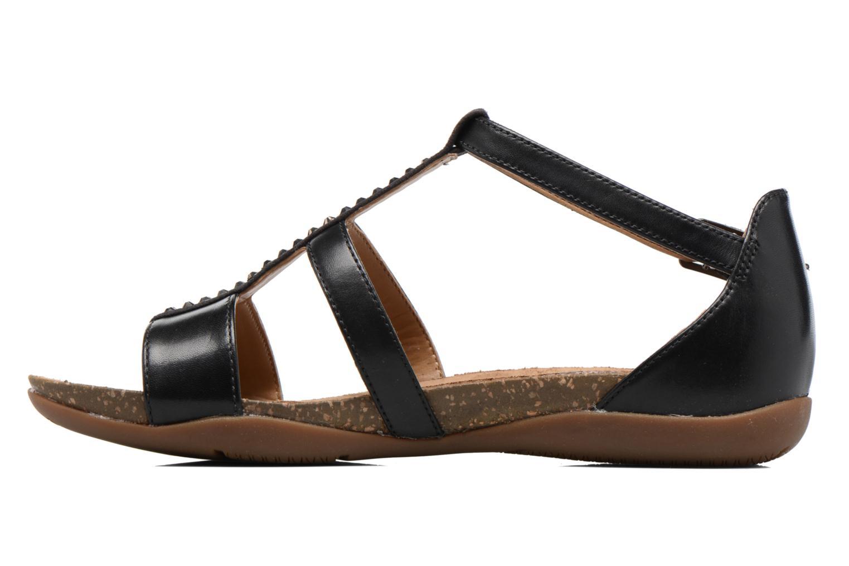 Sandales et nu-pieds Clarks Autumn Fresh Noir vue face